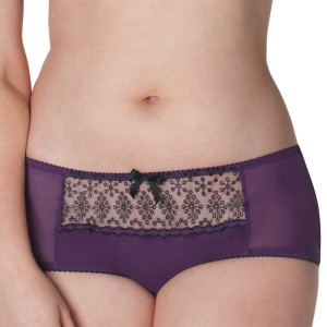 Shorty avec broderies Atomic plum