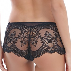 Shorty chic en dentelle Chrystalle noir