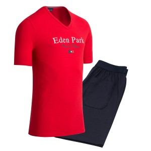 Pyjama court homme Eden Park French flair rouge